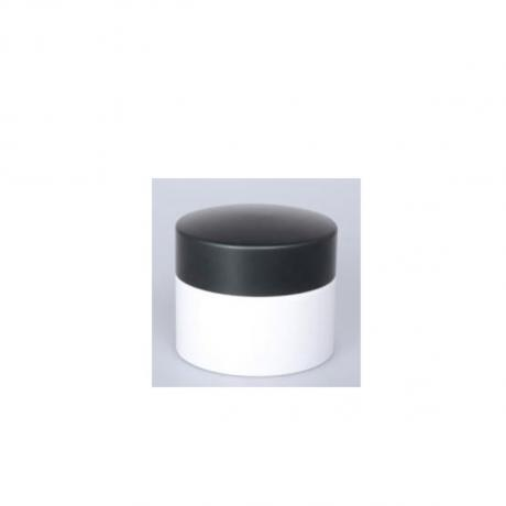 Matte black flat plastic caps custom bottle cap packaging skincare container