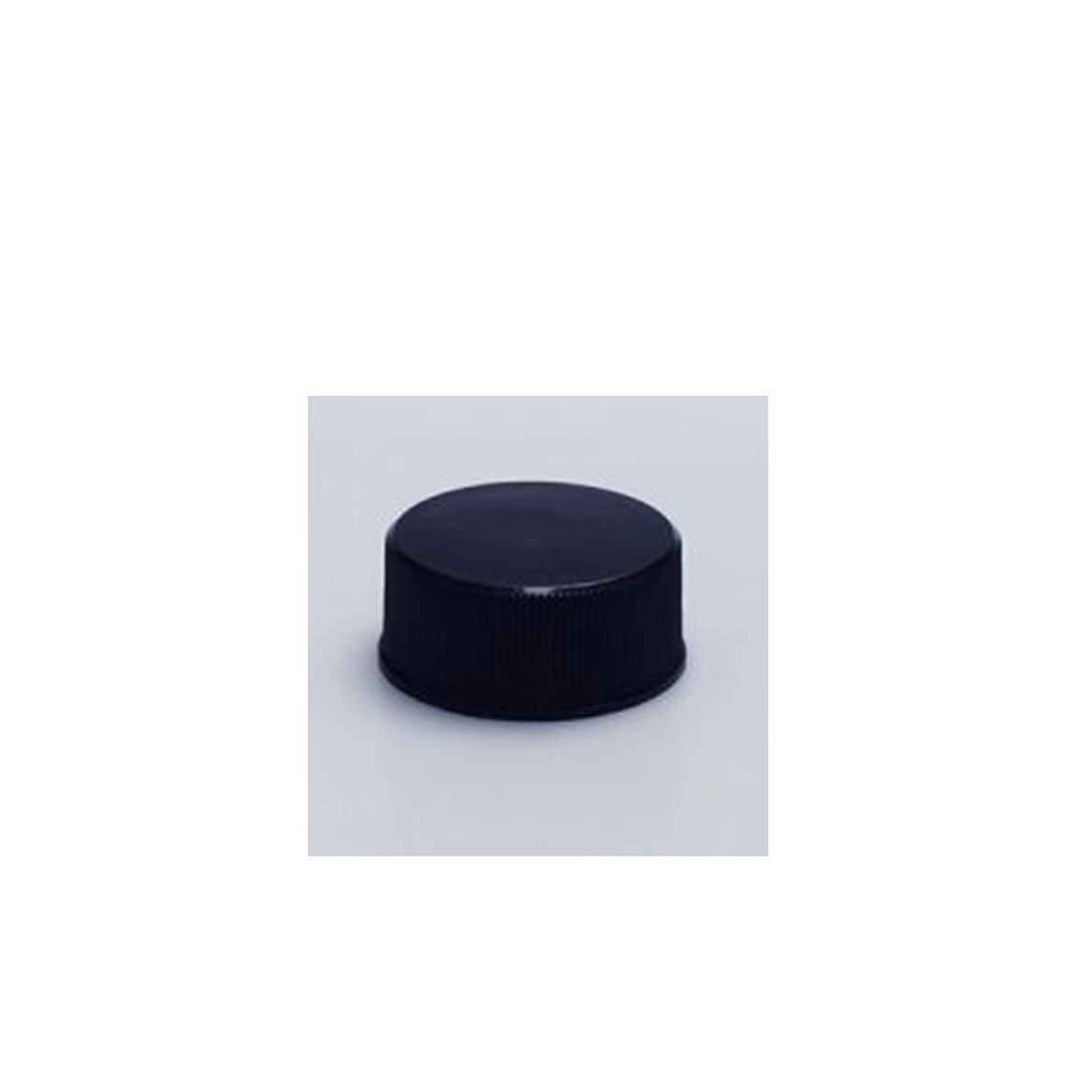 Beauty product packaging ribbed black plastic caps for plastic bottles container body and face product