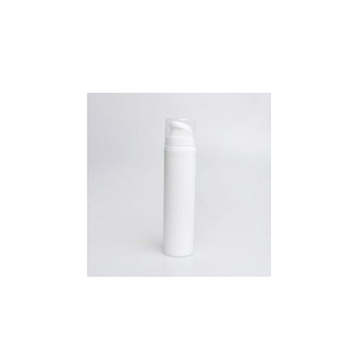 Cylinder plastic bottle with white foam pump 50ml customized logo printing for cleanser and facial soap